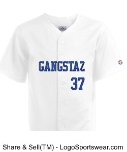 Adult Pro Weight 6-Button Baseball Jerseys Design Zoom