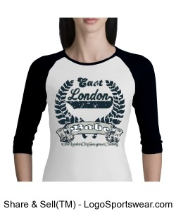 Ladies 3/4 Sleeve Raglan Colorblock T-Shirt Design Zoom