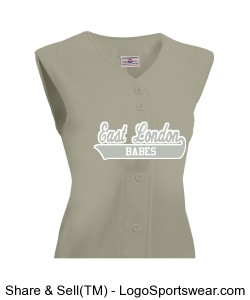 Womens On Deck Sleeveless Faux Full Button Down Jersey Design Zoom